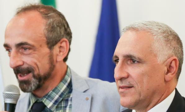 da sx Paolo Battaglia La Terra Borgese e Tiberio Mantia