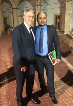 Da sx Tumbiolo e Redah Dozan Direttore Generale Pesca Libia