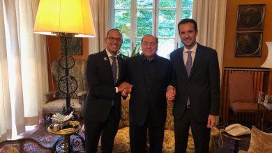 da sx Andrea Mineo, Silvio Berlusconi, Marco Besetti, Coordinatore Nazionale Giovani Forza Italia