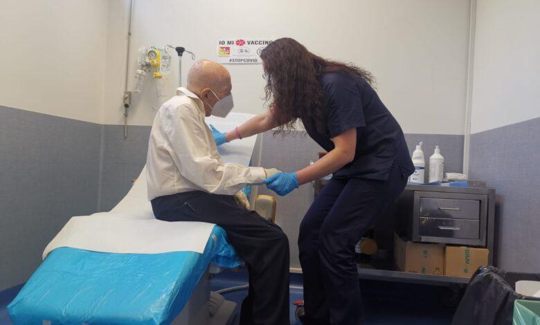 catania antonio bonaiuto centenario vaccinato