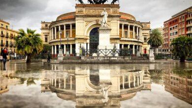 Teatro Politeama Palermo Pioggia