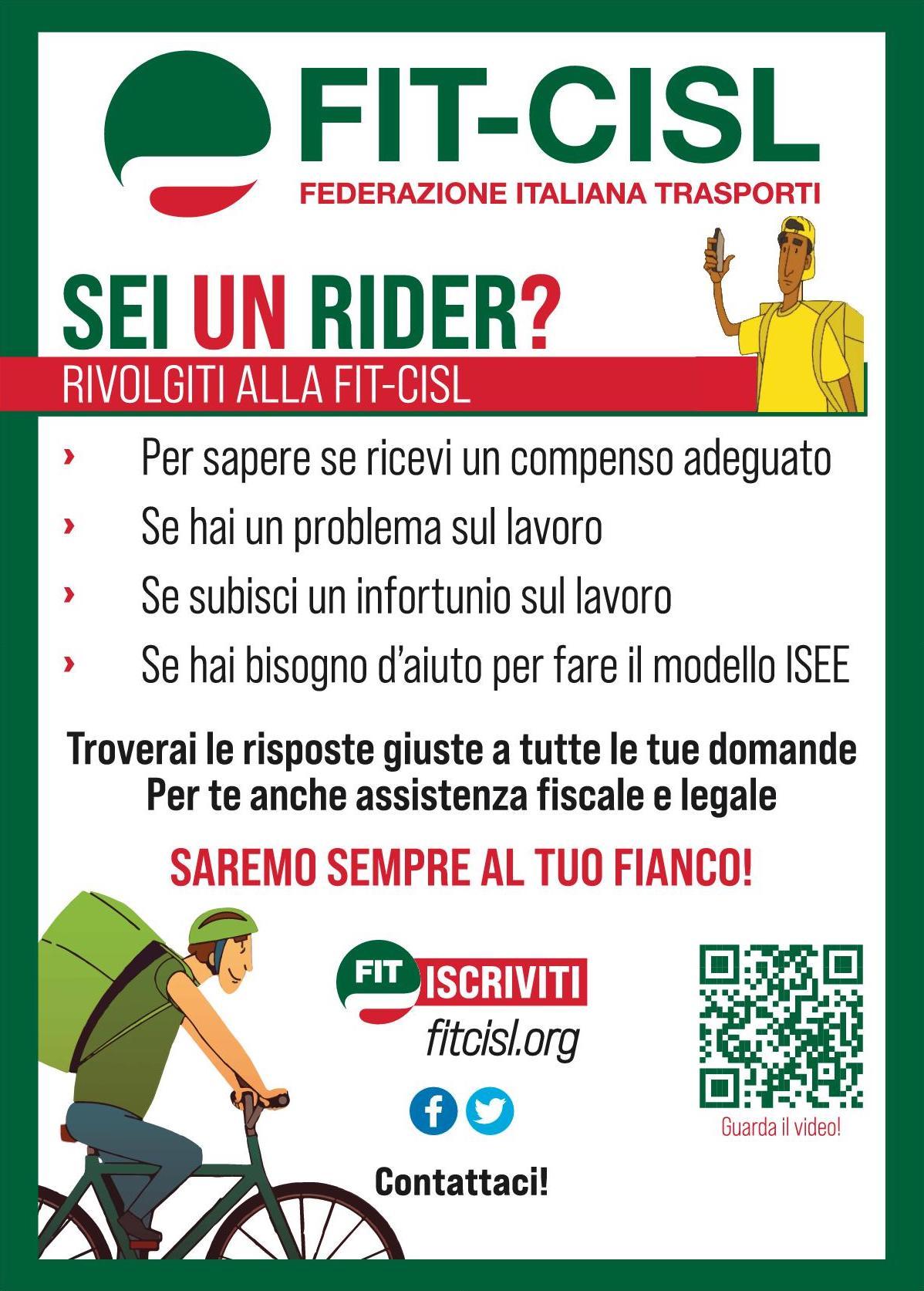 riders locandina fit cisl sicilia