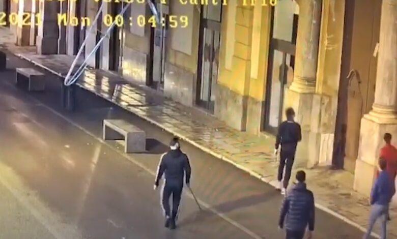 vandalismo centro urbano Palermo